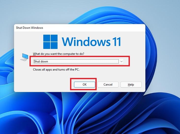 Shut Down Windows 11
