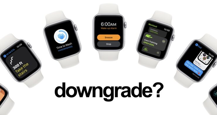 You cannot downgrade watchOS 8 RC to watchOS 7