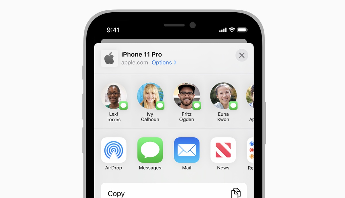 How to hide contacts from iOS share sheet