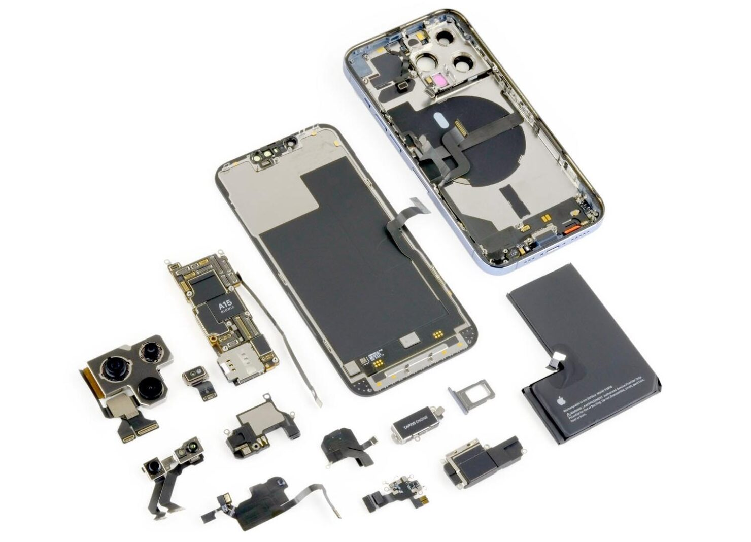 Complete iPhone 13 Pro Teardown Shows How Apple Reduced Face ID Camera, but Third-Party Repairs Will Be Discouraged