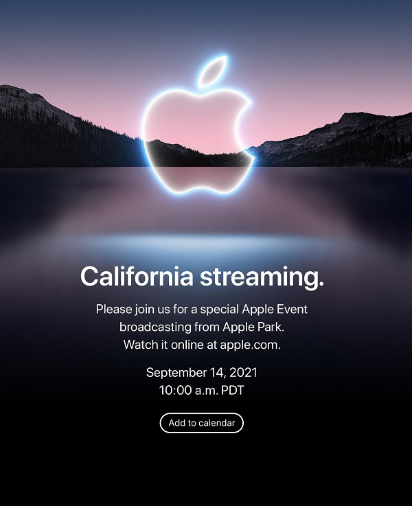 iPhone 13 California Streaming event on September 14
