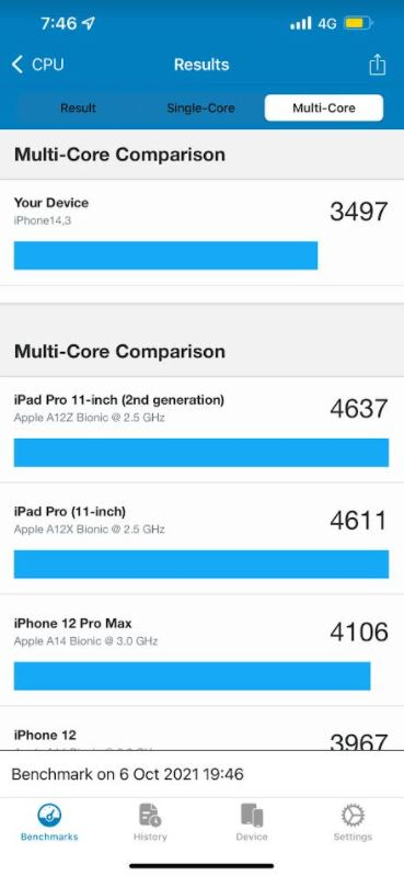 Apple A15 Bionic chip in Geekbench 5 in Low Power Mode