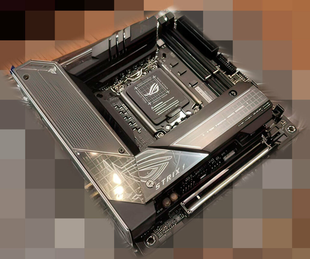 ASUS ROG STRIX Z690-I Gaming WiFi motherboard is the first leaked ITX design for Intel's Alder Lake CPUs. (Image Credits: Videocardz)