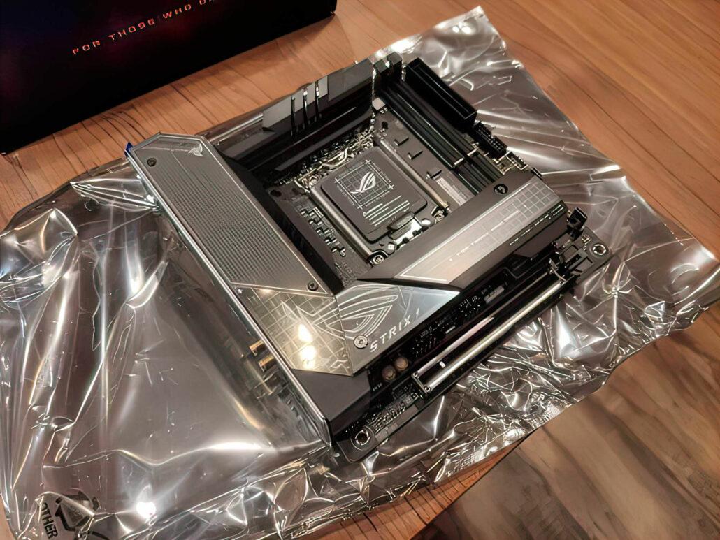 La carte mère ASUS ROG STRIX Z690-I Gaming WiFi est la première conception ITX divulguée pour les processeurs Intel Alder Lake.  (Crédits image: Videocardz)