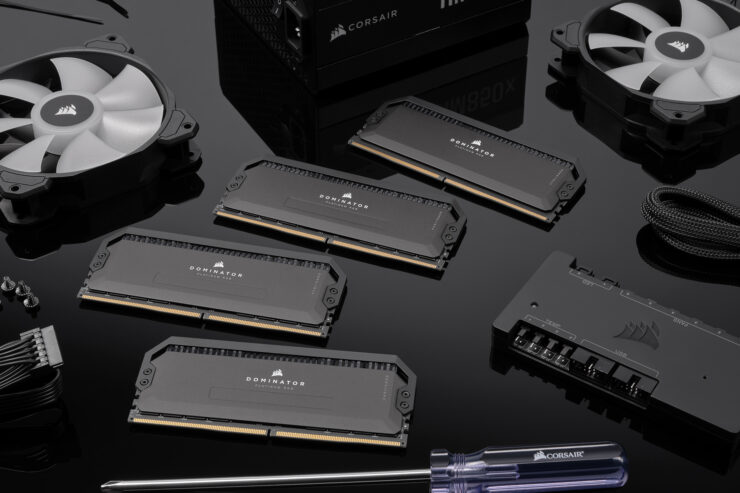 Corsair Shows Off Next-Gen Dominator Platinum RGB DDR5 Memory Kits, Stealthy Black Design