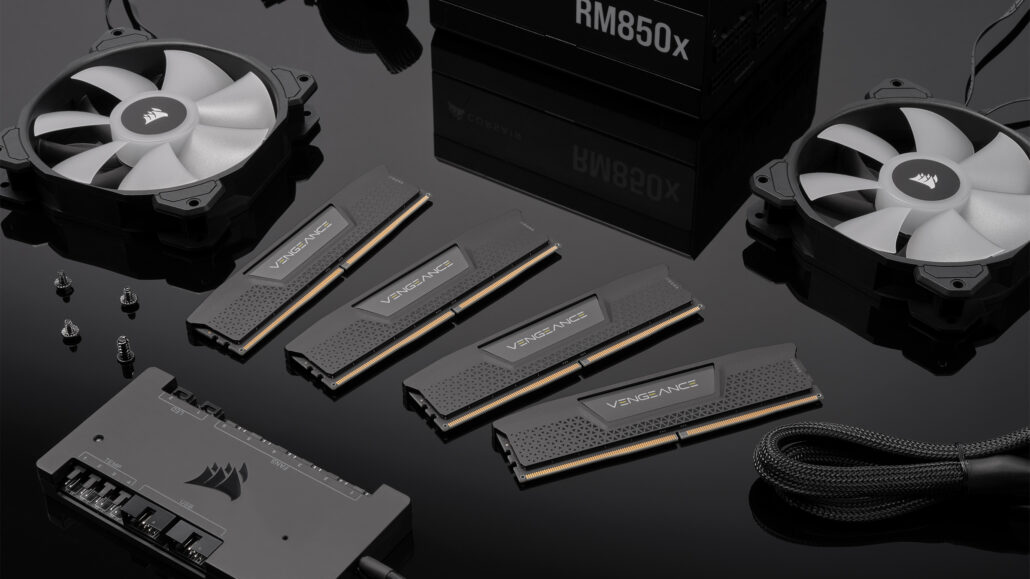Corsair also showed off its Vengeance series DDR5 memory modules a while back.