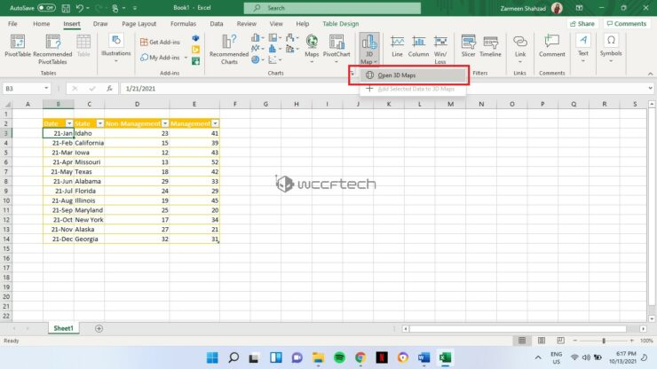 Create 3D Maps in Microsoft Excel