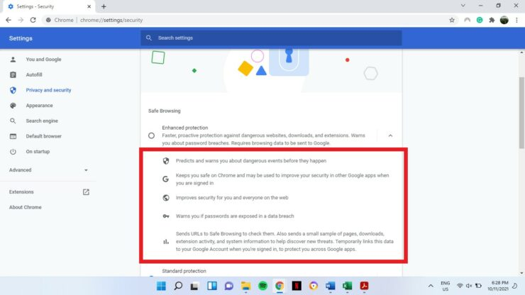 Chrome Security Features