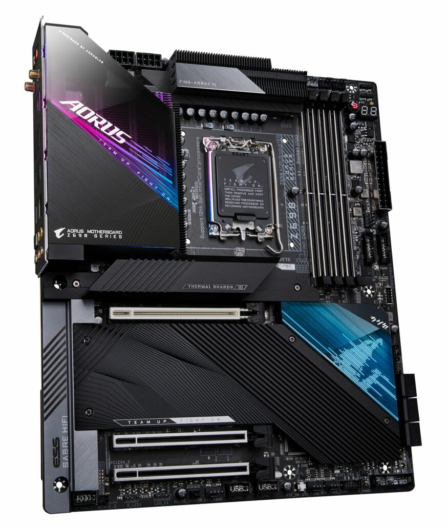 Gigabyte's high-end AORUS Z690 Master motherboard has been leaked. (Image Credits: REHWK)