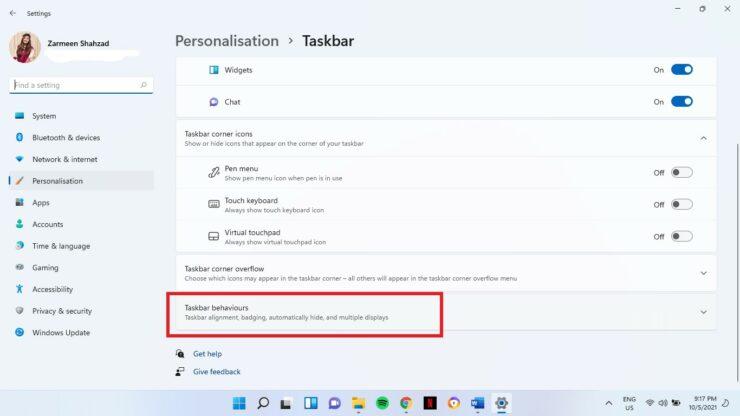 Hide Windows 11 Taskbar
