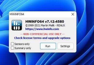 Run HWinfo