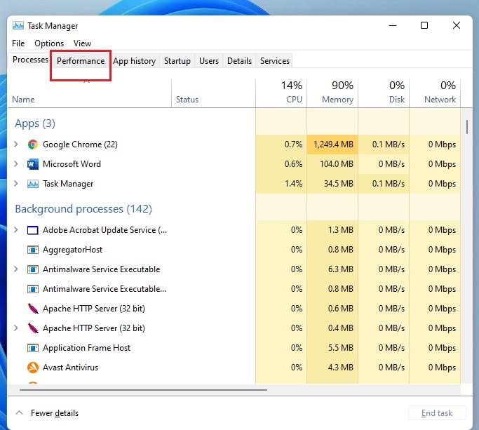 RAM Details Windows 11
