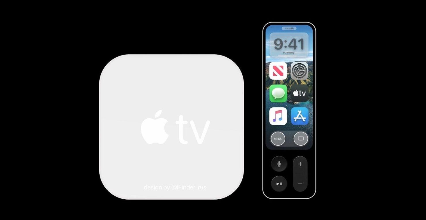 Redesigned Apple TV with plexiglass