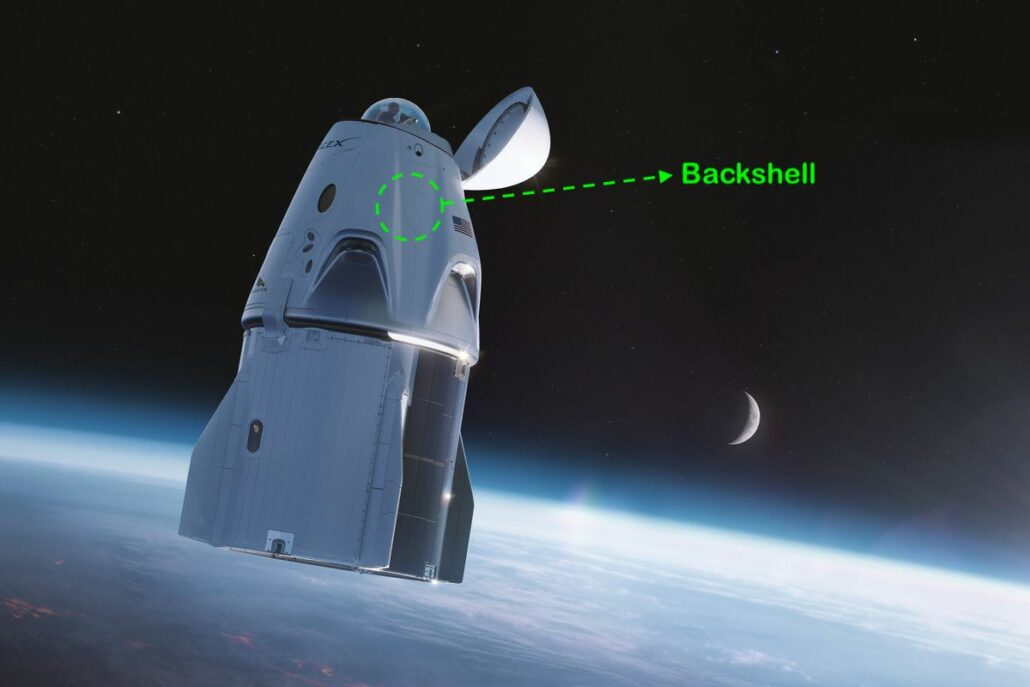 SpaceX Crew Dragon backshell