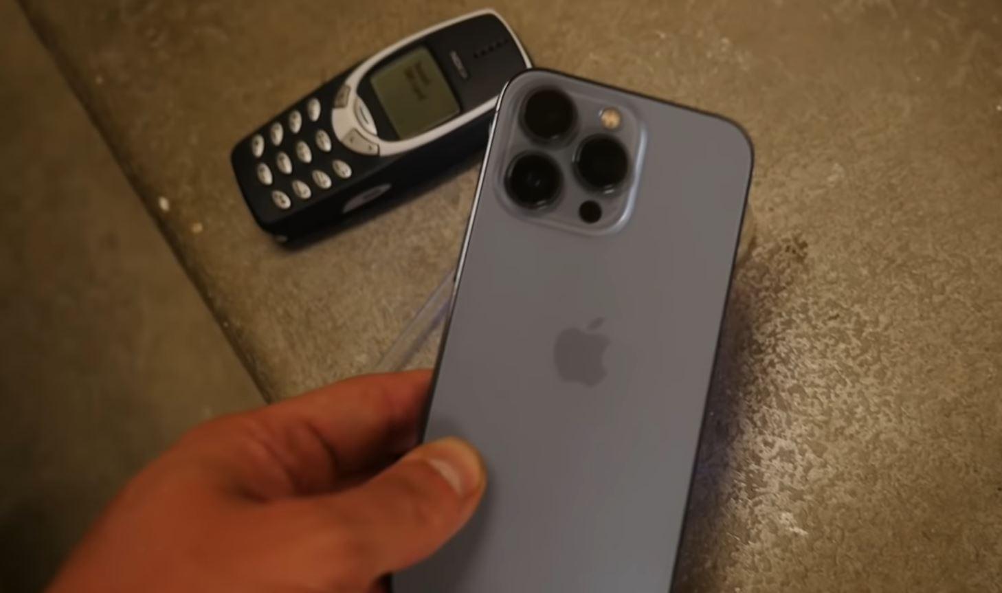 L'iPhone 13 Pro bat le test de chute du Nokia 3310